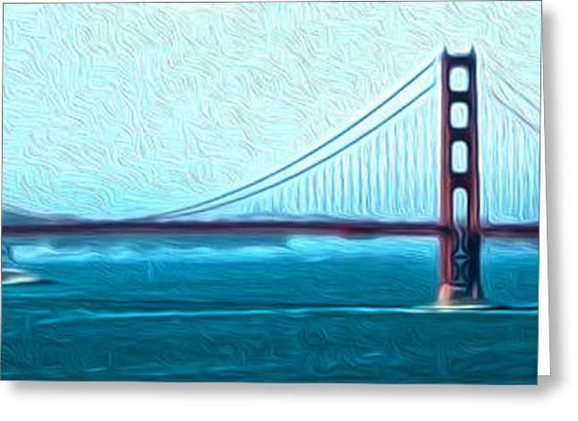San Francisco - Golden Gate Bridge - 07 Greeting Card by Gregory Dyer