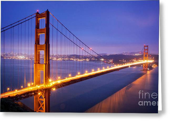 Recently Sold -  - Famous Bridge Greeting Cards - San Francisco Golden Gate Bridge Greeting Card by Engel Ching