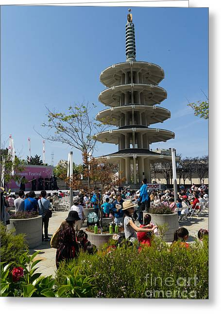San Francisco Japantown Cherry Blossom Festival Dsc986 Greeting Card by Wingsdomain Art and Photography
