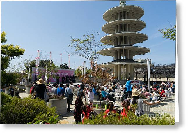 San Francisco Japantown Cherry Blossom Festival Dsc988 Greeting Card by Wingsdomain Art and Photography