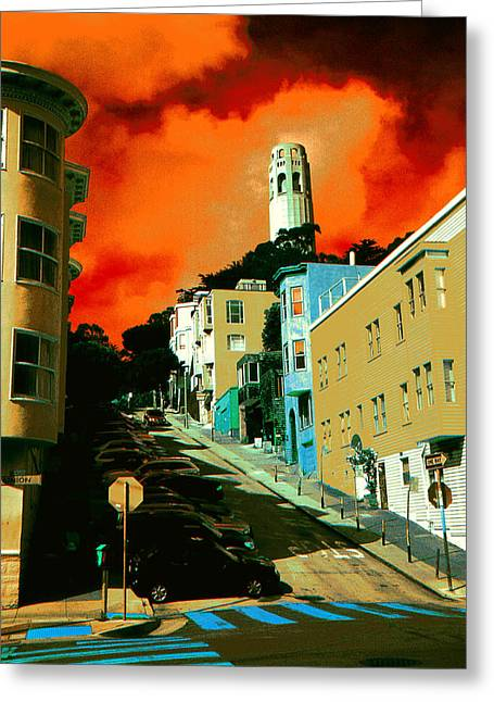 Print Greeting Cards - San Francisco Magic - Pop Art Greeting Card by Peter Fine Art Gallery  - Paintings Photos Digital Art