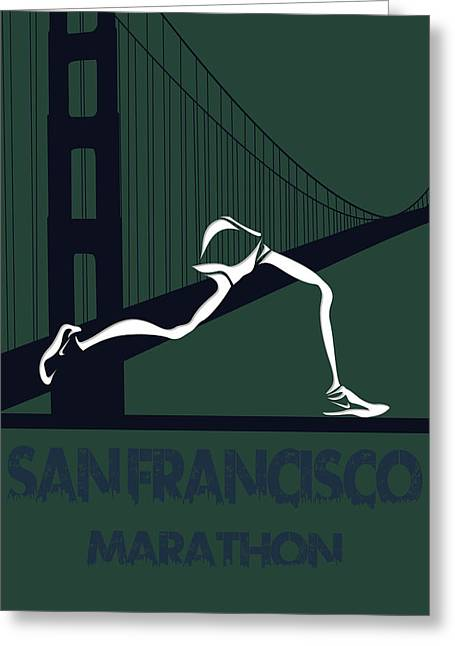 Marathon Greeting Cards - San Francisco Marathon Greeting Card by Joe Hamilton