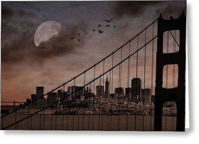 San Francisco Greeting Card by Marie  Gale