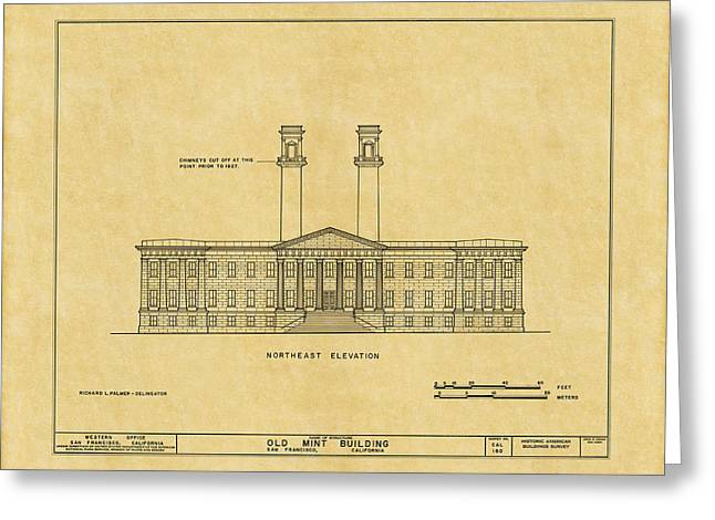 The Mint Greeting Cards - San Francisco Mint Building Greeting Card by Andrew Fare
