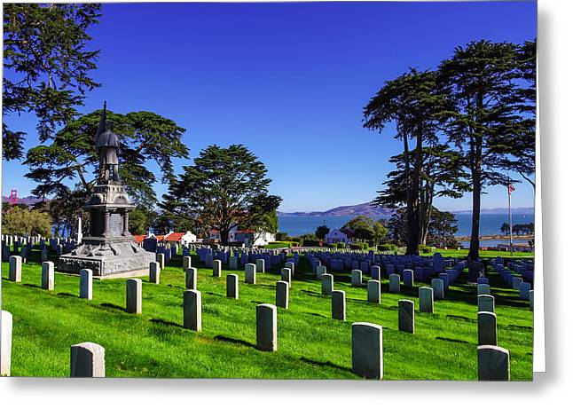 Patriot Photography Greeting Cards - San Francisco National Cemetery Greeting Card by Scott McGuire