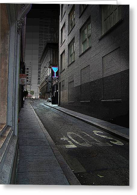 Luminist Greeting Cards - San Francisco Night Greeting Card by Ric Soulen