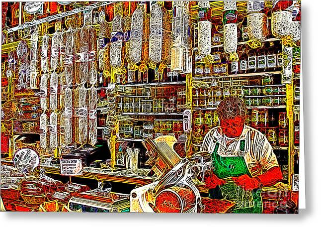 San Francisco North Beach Deli 20130505v1 Greeting Card by Wingsdomain Art and Photography