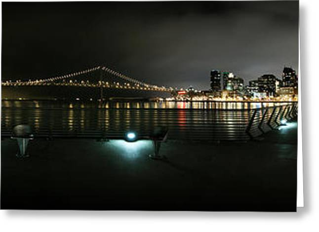 Rincon Greeting Cards - San Francisco Panorama Greeting Card by Kyle Simpson