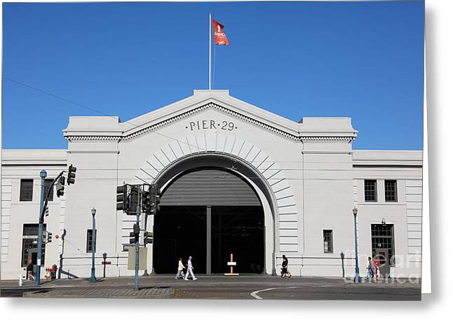 Americas Cup Greeting Cards - San Francisco Pier 29 Along The Embarcadero 5D26163 Greeting Card by Wingsdomain Art and Photography