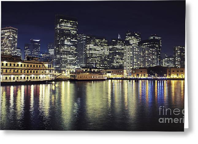 California Ocean Photography Greeting Cards - San Francisco Reflections Greeting Card by Jennifer Ramirez