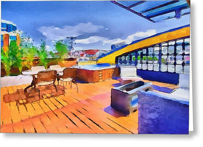 Live Art Greeting Cards - San Francisco Resort 2 Greeting Card by Yury Malkov
