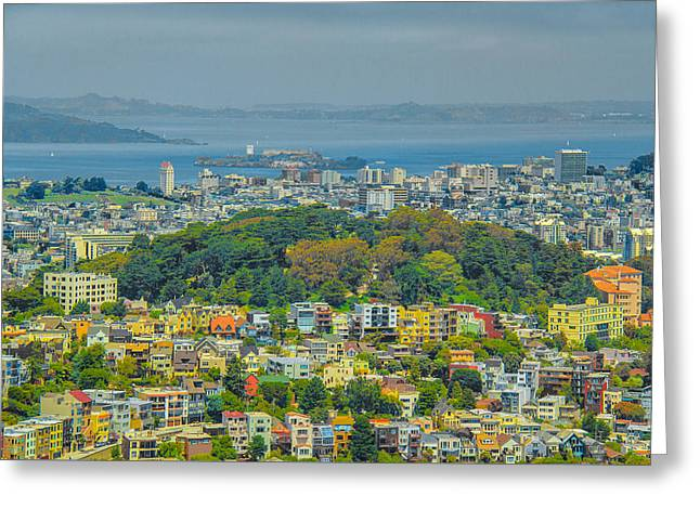 San Francisco - Scenic Cityscape Greeting Card by Ben and Raisa Gertsberg