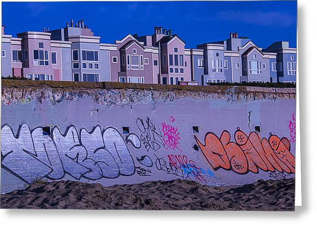 San Francisco Sea Wall Greeting Card by Garry Gay