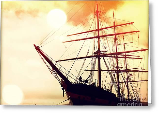San Francisco Cali Greeting Cards - San Francisco Ship III Greeting Card by Chris Andruskiewicz