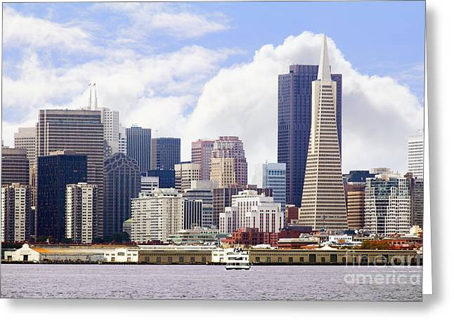 Port Of San Francisco Greeting Cards - San Francisco Skyline Along The Embarcadero 5D29399 Greeting Card by Wingsdomain Art and Photography