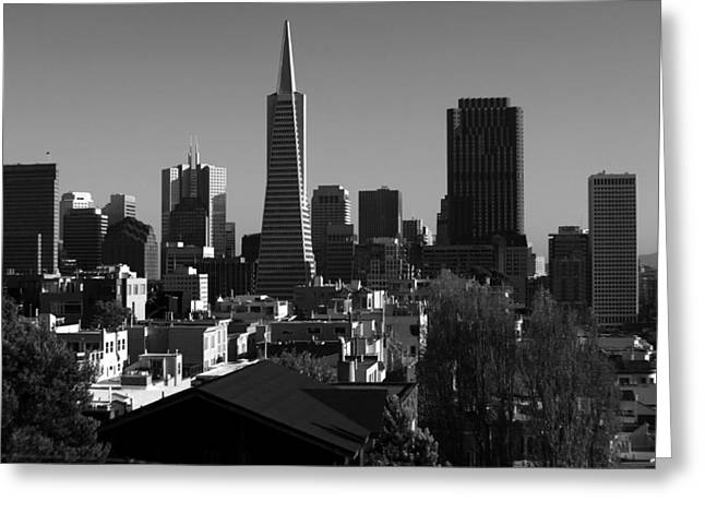 Art Of Building Greeting Cards - San Francisco Skyline California Greeting Card by Aidan Moran