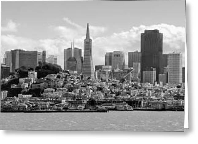 Downtown San Francisco Greeting Cards - San Francisco Skyline Greeting Card by Daniel Hagerman