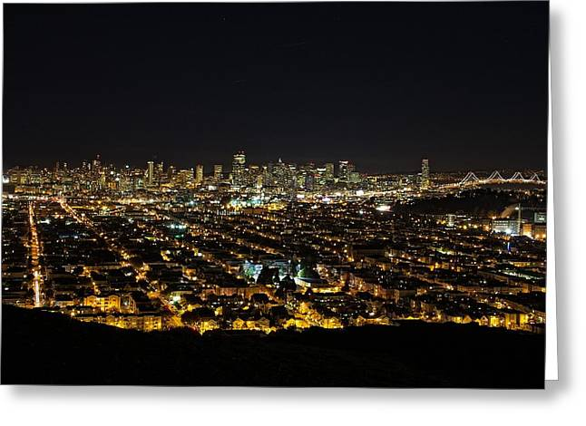 Downtown San Francisco Greeting Cards - San Francisco Skyline Greeting Card by Dave Files