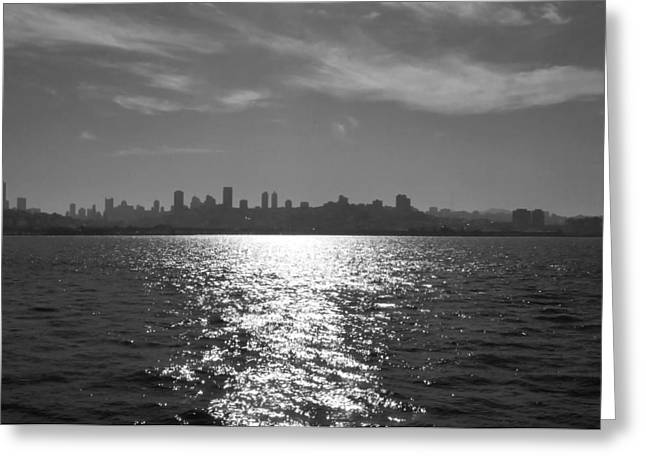 Urban Images Pyrography Greeting Cards - San Francisco Skyline Greeting Card by Fabien White
