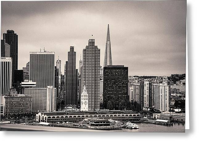 Downtown San Francisco Greeting Cards - San Francisco Skyline Greeting Card by Jay Hooker