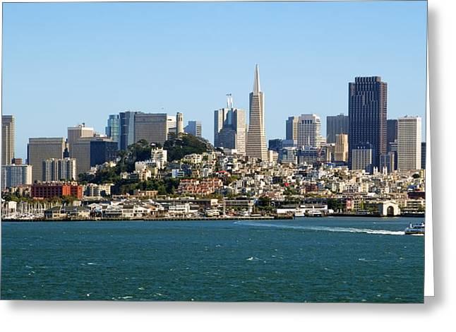 San Francisco Skyline Greeting Card by Kelley King