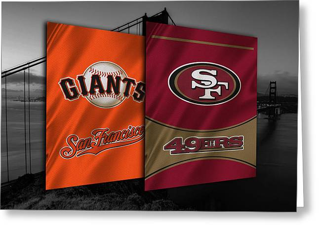 Giant Greeting Cards - San Francisco Sports Teams Greeting Card by Joe Hamilton