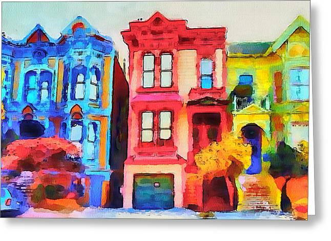 Live Digital Greeting Cards - San Francisco Streets 1 Greeting Card by Yury Malkov