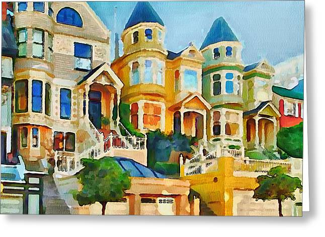 Live Art Greeting Cards - San Francisco Streets 2 Greeting Card by Yury Malkov