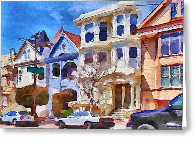 Live Art Greeting Cards - San Francisco Streets 3 Greeting Card by Yury Malkov