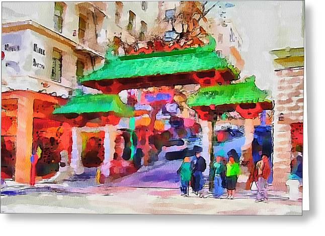 Live Art Greeting Cards - San Francisco Streets 5 Greeting Card by Yury Malkov