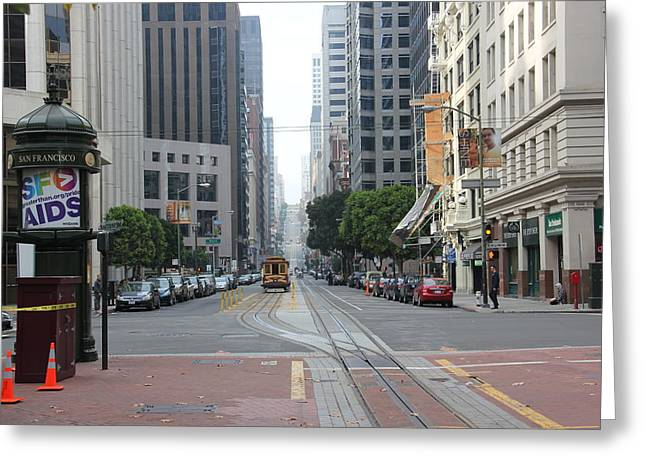 Downtown San Francisco Greeting Cards - San Francisco Streets Greeting Card by Natalia Nowak