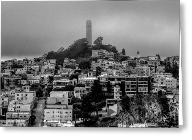 San Francisco Greeting Cards - San Francisco - Telegraph Hill 001 Greeting Card by Lance Vaughn