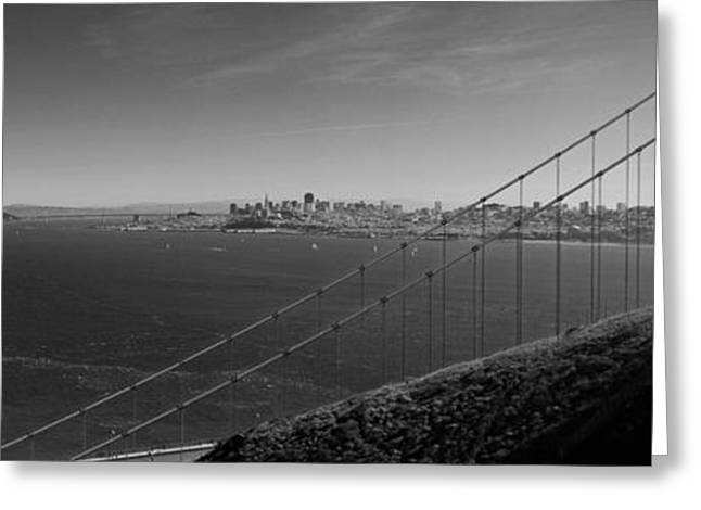 Sausalito Greeting Cards - San Francisco through the Golden Gate Bridge Greeting Card by Twenty Two North Photography