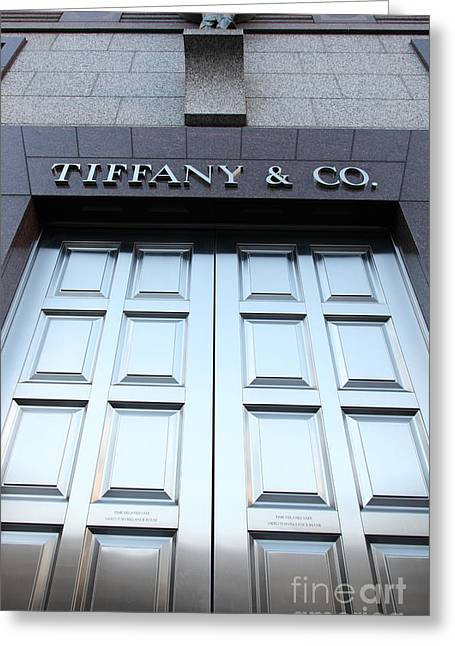 Ornate Door Greeting Cards - San Francisco Tiffany and Company Store Doors - 5D20562 Greeting Card by Wingsdomain Art and Photography