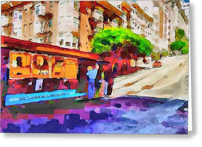 Live Art Greeting Cards - San Francisco Trams 10 Greeting Card by Yury Malkov