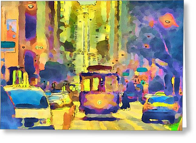 Live Art Greeting Cards - San Francisco Trams 12 Greeting Card by Yury Malkov