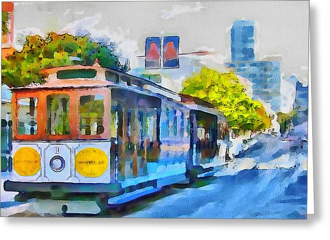 Live Art Greeting Cards - San Francisco Trams 4 Greeting Card by Yury Malkov