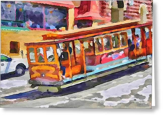 Live Art Greeting Cards - San Francisco Trams 5 Greeting Card by Yury Malkov
