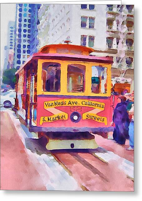 Live Art Greeting Cards - San Francisco Trams 7 Greeting Card by Yury Malkov
