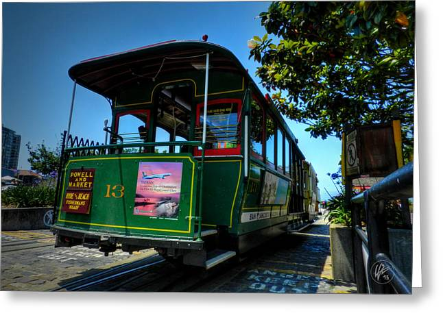 San Francisco Trolley 001 Greeting Card by Lance Vaughn