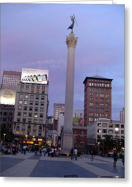 Union Square Greeting Cards - San Francisco Union Square Greeting Card by Vadim Levin