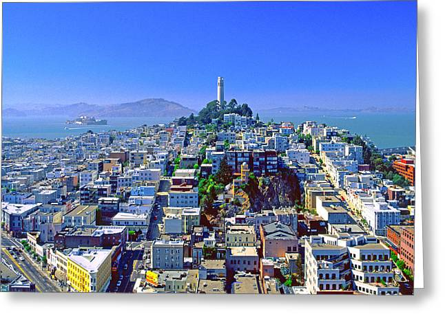 Alcatraz Greeting Cards - San Francisco Ver. 2 Greeting Card by Larry Mulvehill