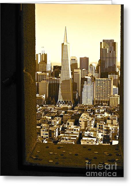 San Fransico Greeting Cards - San Francisco View from the Coit Tower Greeting Card by Elysia Richardson