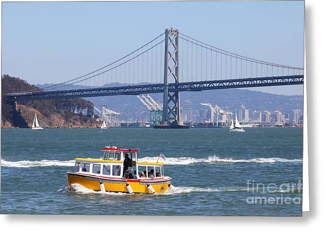 Water Taxi Greeting Cards - San Francisco Water Taxi 5D29438 Greeting Card by Wingsdomain Art and Photography