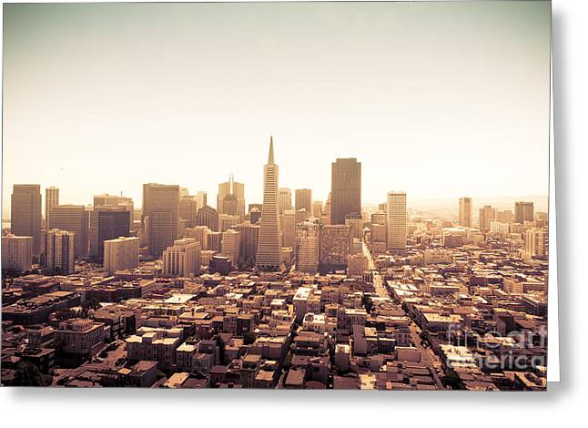 Paradise Road Greeting Cards - San Francisco Greeting Card by Wilson Lee