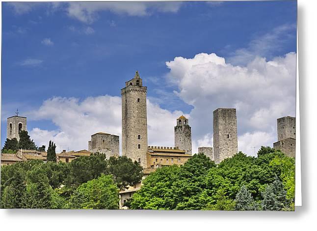 Chianti Greeting Cards - San Gimignano Greeting Card by Ivan Slosar