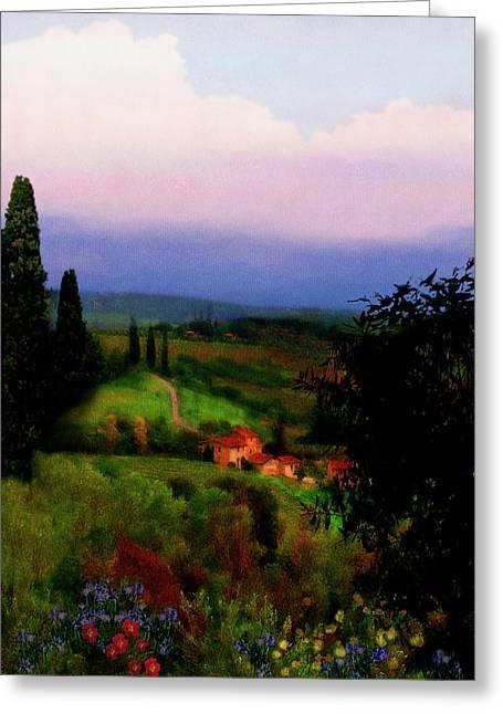 San Gimignano Greeting Card by Patrick J Osborne