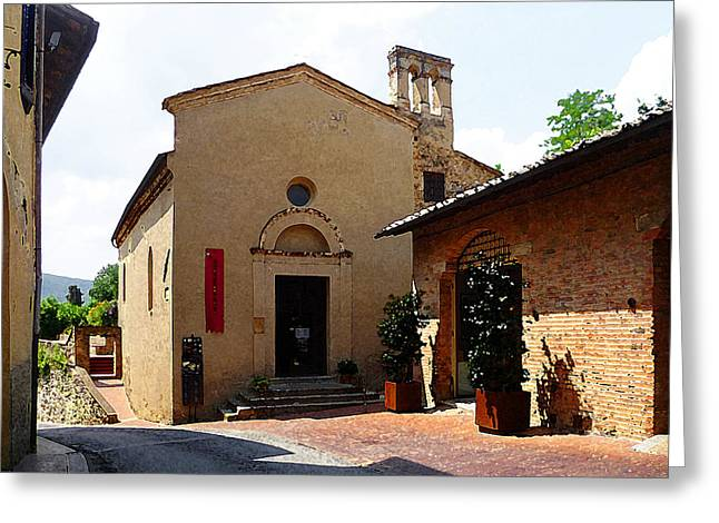 Old Churches Greeting Cards - San Gimignano Tuscany Italy Greeting Card by Irina Sztukowski