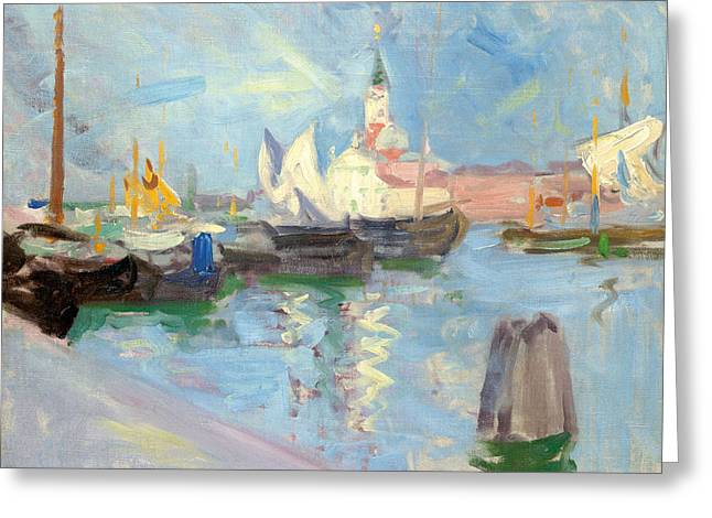 Blue Sailboat Greeting Cards - San Giorgio Maggiore  Venice Greeting Card by Francis Campbell Boileau Cadell