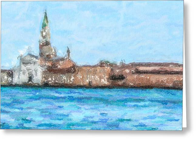 Italy Greeting Cards - San Giorgio Maggiore Venice Italy Greeting Card by Liz Leyden